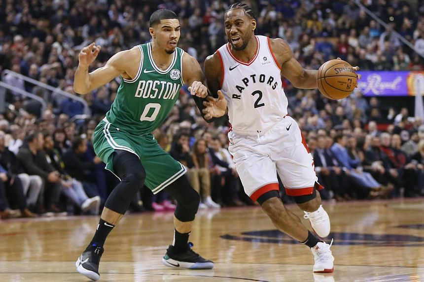 Kawhi Leonard added 21 points and six rebounds for the Raptors, who have won eight straight home games against the Celtics.