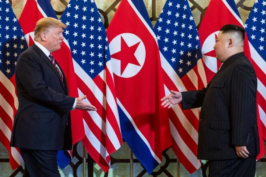 North Korean leader Kim Jong Un looked far more confident compared to their last meeting, while US President Donald Trump welcomed Mr Kim with his palm facing up - a sign, said body language expert Karen Leong, that was almost supplicatory.