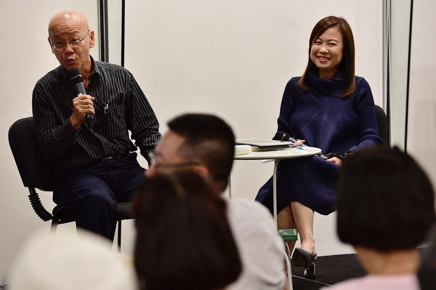 Dr William Wan speaking with Straits Times journalist Lee Siew Hua about his new book, Through The Valley, on the grace of ageing and dying well at the 11th edition of The Straits Times Book Club on Feb 27, 2019.
