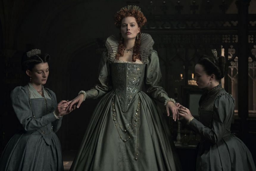 Margot Robbie takes on the role of Queen Elizabeth I of England in Mary Queen Of Scots.