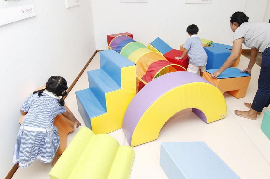 Children playing at a pre-school in Singapore.
