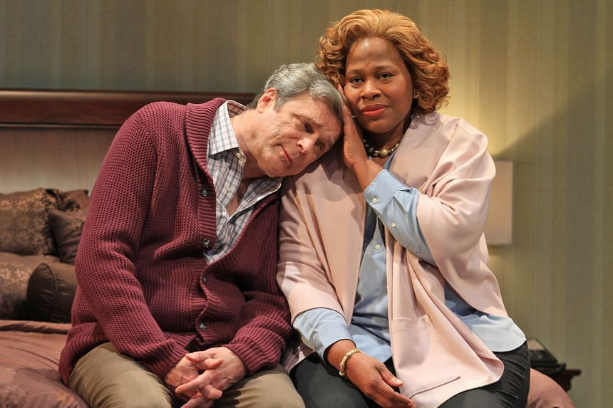 Alice Gatling and John Procaccino as the titular characters in the 2016 Philadelphia Theater Company production of Hillary And Clinton.