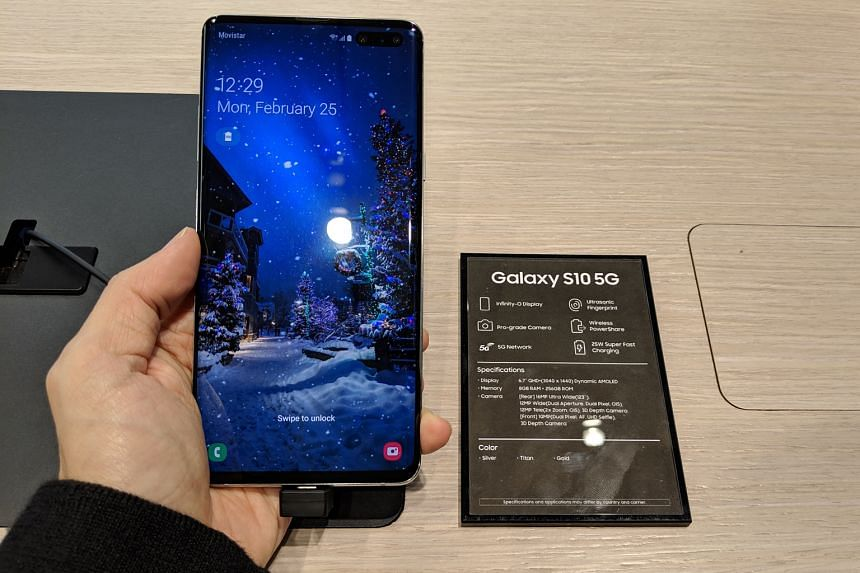 The Samsung Galaxy S10 is an all-glass smartphone with two hole-punch style front-facing camera at the top right corner, similar to its stablemates in the series.