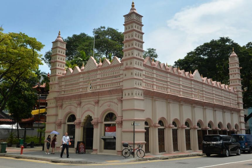 """The Nagore Dargah Indian Muslim Heritage Centre in Telok Ayer. It is curating a photo exhibition called """"From Singapore to Singaporeans - Pioneers and Descendants""""."""