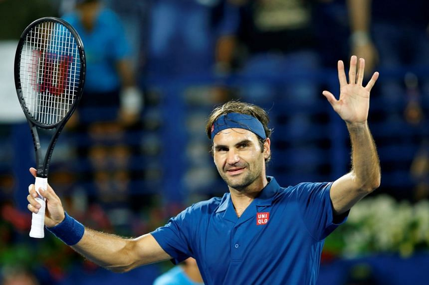 Federer celebrates after defeating Fernando Verdasco of Spain in their second-round match.