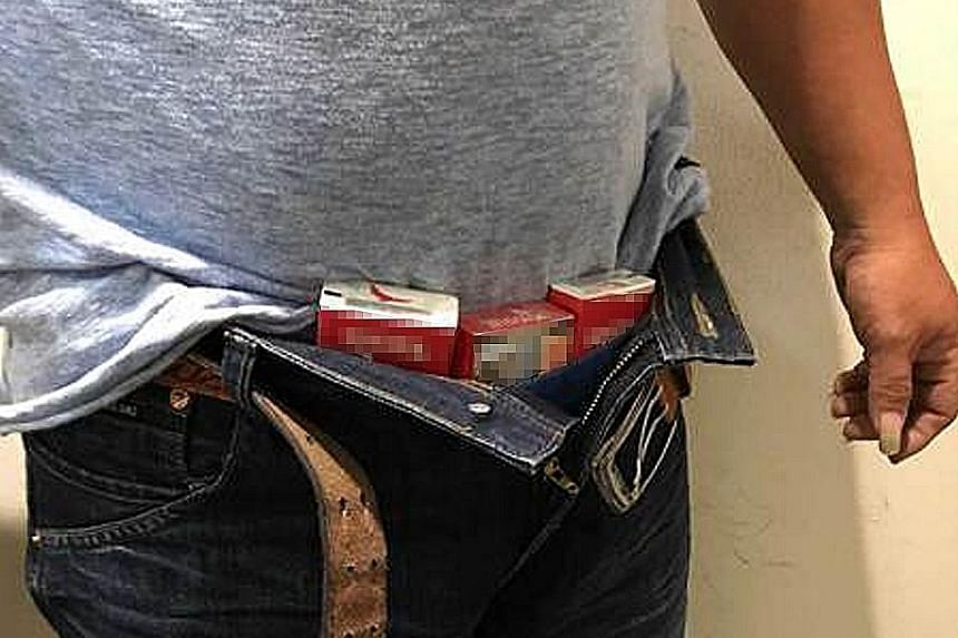 Last year, 107,771 contraband cases were detected at Singapore's checkpoints, the highest annual figure recorded, up from 90,327 the year before.