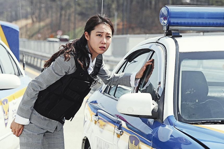 Gong Hyo-jin plays a frustrated but tough-as-nails police detective in Hit-And-Run Squad.