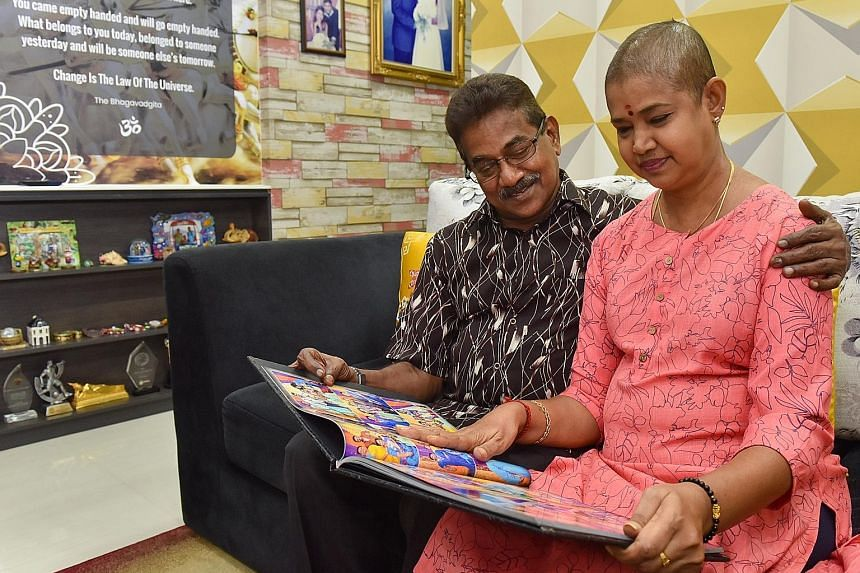Mrs Saras Adiya successfully underwent a transplant with her husband N. Arumugam's kidney last December. The couple are looking forward to celebrating their 40th wedding anniversary next month.