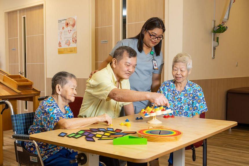 The Orange Valley Balestier Care Centre provides eldercare services for residents needing long-term or short-term nursing care.