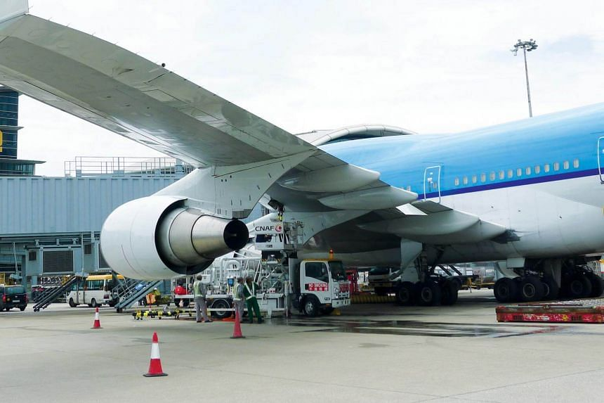 A refuelling operation conducted by China Aviation Oil at Hong Kong International Airport.
