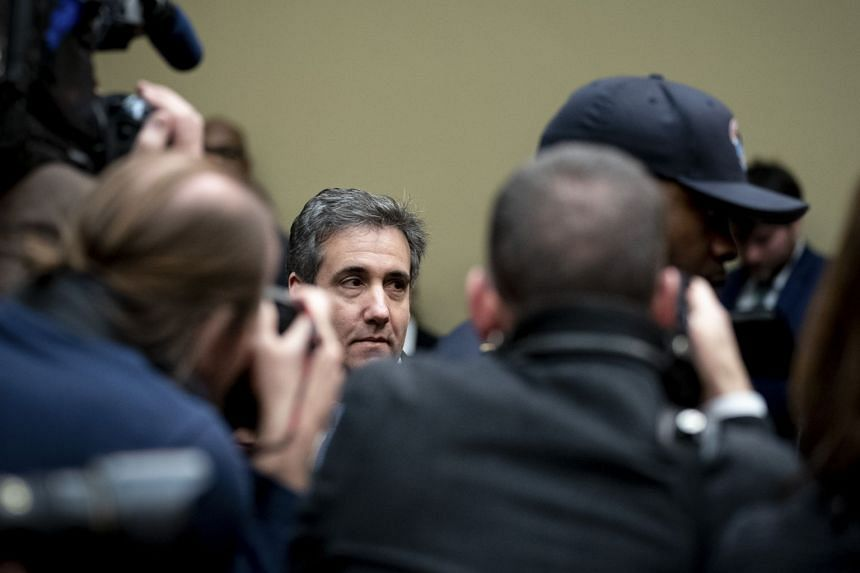 Cohen arrives to testify before the House Oversight and Reform Committee in Washington.