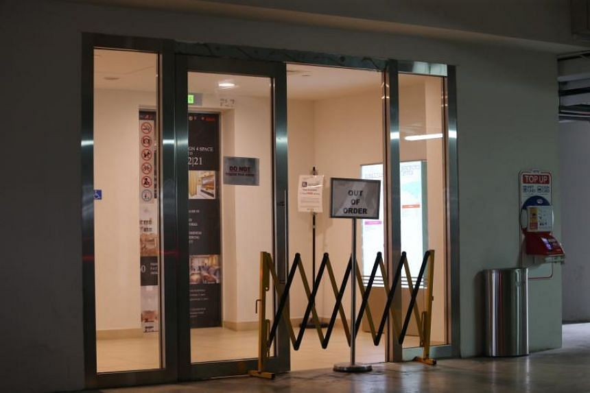 A woman suffered injuries to her head, legs and pelvis, and also had some internal bleeding after the glass door at a carpark lift lobby in Alexandra Central Mall fell on her on Feb 24, 2019.