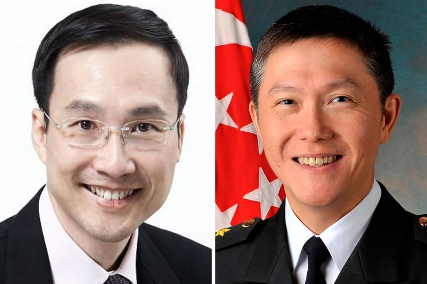 Mr Augustin Lee (left) will succeed Mr Ng Chee Peng as chief executive of the CPF Board. Mr Ng is stepping down after 30 years in public service.