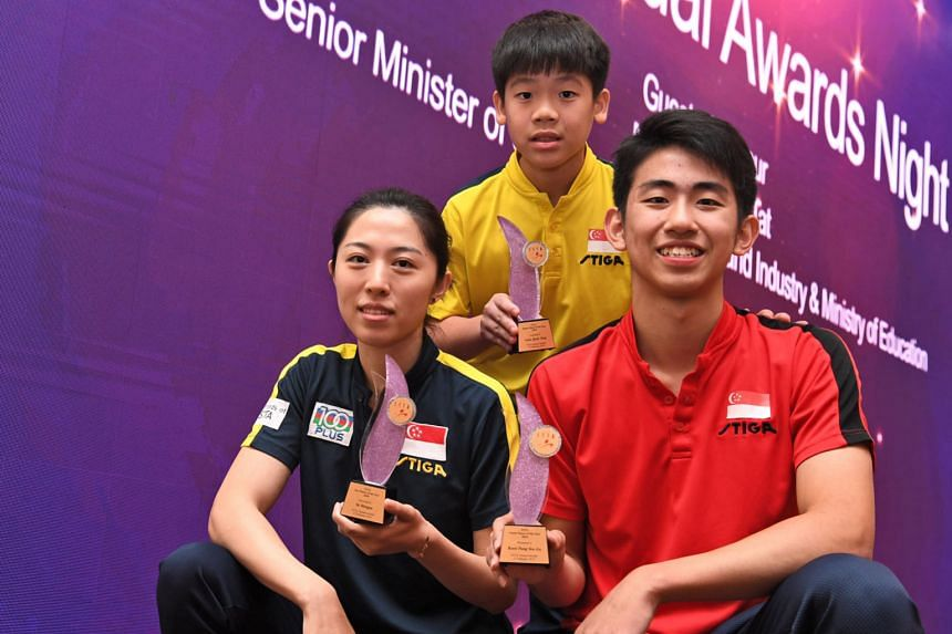 Asian Games joint-bronze medallist Yu Mengyu was named the Singapore Table Tennis Association's (STTA) Player of the Year 2018 at its annual awards night yesterday. The 29-year-old overcame injury to win Singapore's only table tennis medal in the 201