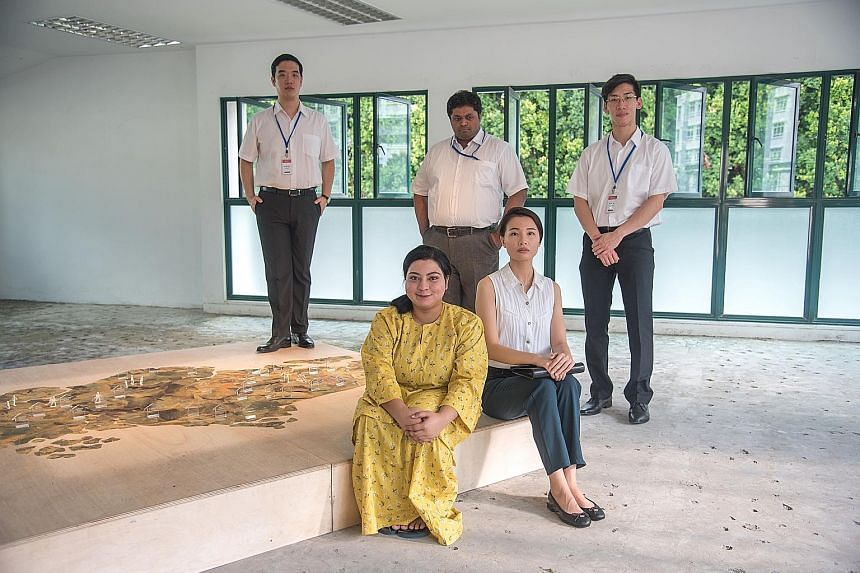 Artist Allen Tang's Rhapsody. The cast of First Storeys includes (clockwise from top left) Isaac Tan, Hemang Yadav, Darren Guo, Regina Lim and Nur Hasyimah Hassan. (From far left) Not In My Lifetime? cast member Inch Chua, director Tan Beng Tian and