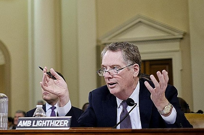 US Trade Representative Robert Lighthizer testifying before the House Ways and Means Committee in Washington on Wednesday.
