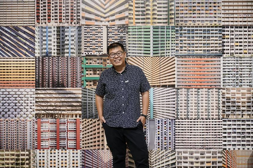 Architecture photographer Darren Soh, whose first formal photography job was as an intern photojournalist at The Straits Times, started shooting buildings for a living 13 years ago. His winning photograph (below) shows a reflection of HDB blocks on t