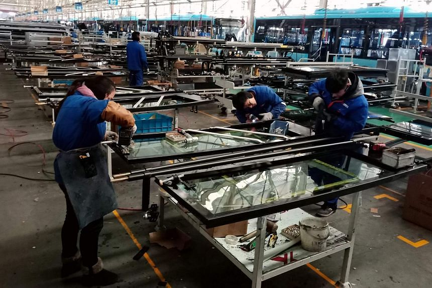 The Caixin/Markit Manufacturing Purchasing Managers' Index for February rose to 49.9 from 48.3 in January.