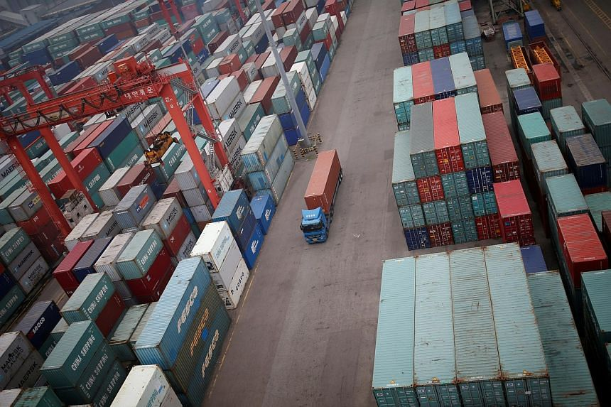 South Korea's imports shrank by 12.6 per cent in February from a year earlier, also worse than a 11.6 per cent fall predicted in the survey.