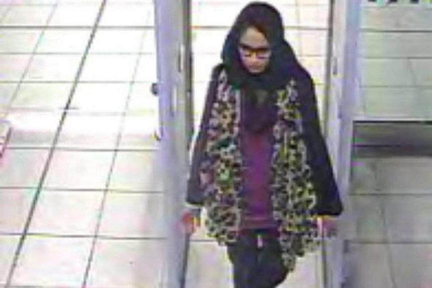 Shamima Begum at Gatwick Airport, southern England,on Feb 17, 2015.
