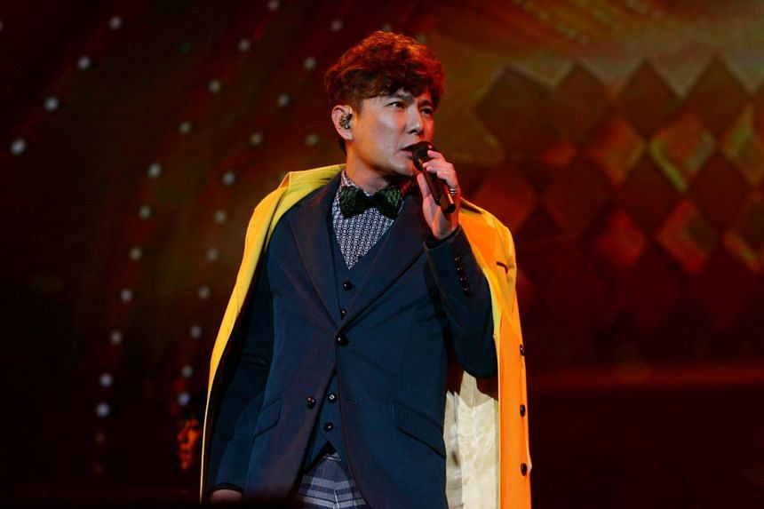 Taiwanese singer Jeff Chang performs at the Singapore Indoor Stadium on March 9, 2013.