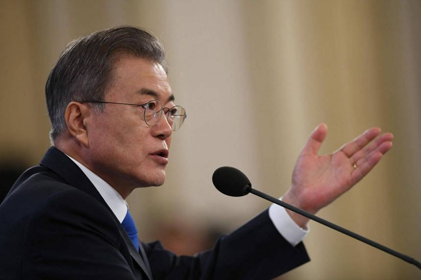 South Korean President Moon Jae-in was slated to unveil details of a new inter-Korean cooperation policy on March 1, 2019.