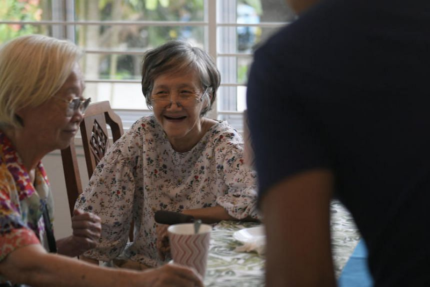 Residents of St Bernadette Lifestyle Village, an assisted living facility, engaging in their activities on Feb 28, 2019.
