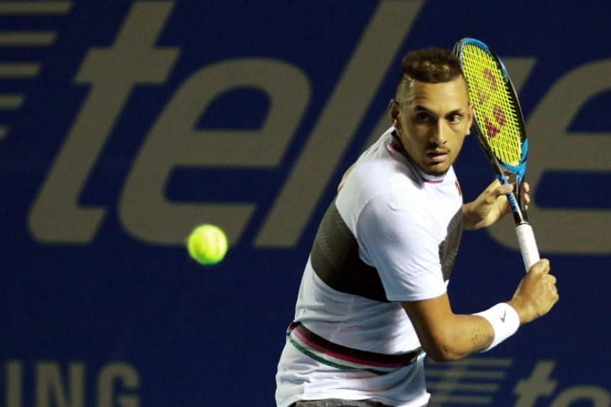 Nick Kyrgios (above) prevailed 7-5, 6-7 (3-7), 6-4 against Stan Wawrinka and advance to the semi-finals of tennis' Acapulco International.