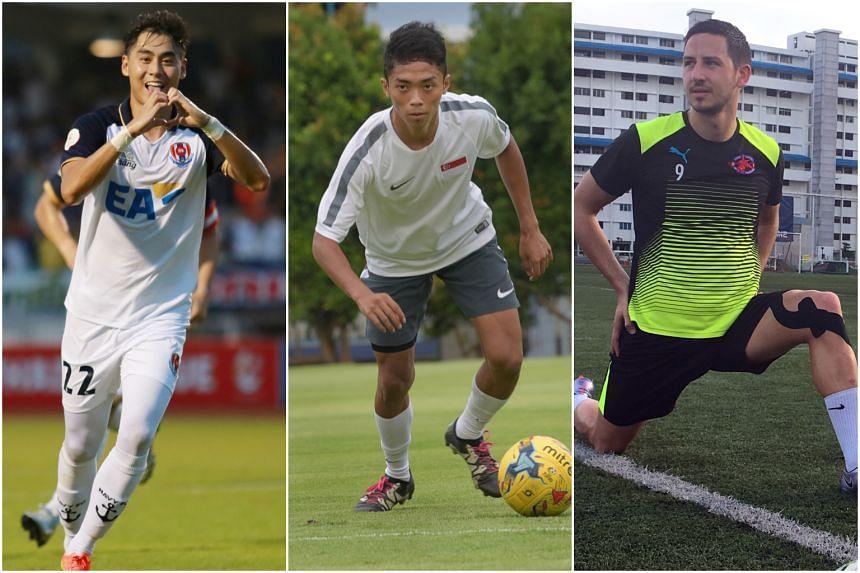 (From left) Gabriel Quak, Shawal Anuar and Stipe Plazibat are all players to be watching out for in the upcoming Singapore Premier League.
