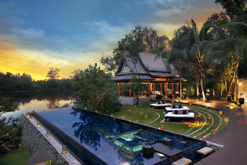 Banyan Tree's Laguna Phuket destination integrated resort in Bang Tao Bay, Phuket, Thailand. Banyan Tree Holdings' boost in earnings was in part due to the recognition of more transactions in the property sales segment in Laguna Phuket.