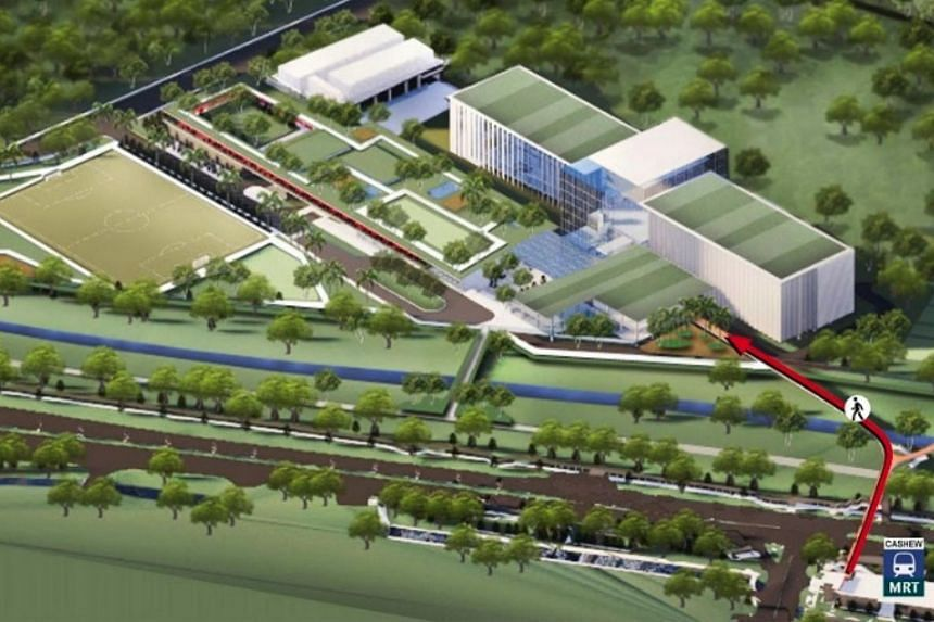 An artist's impression of the NS Hub, which will be about the size of nine football fields and located near the current Mindef headquarters in Bukit Gombak.