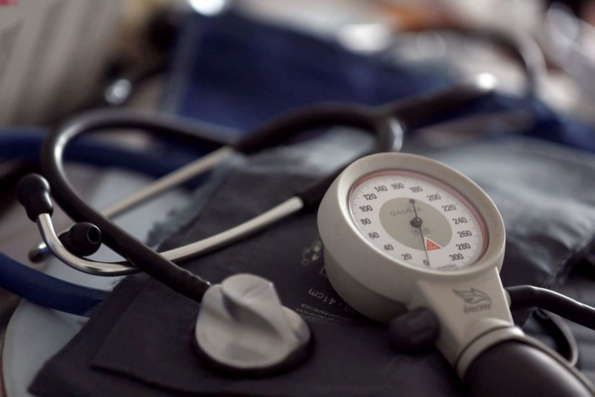 A photo illustration shows a stethoscope and blood-pressure machine.