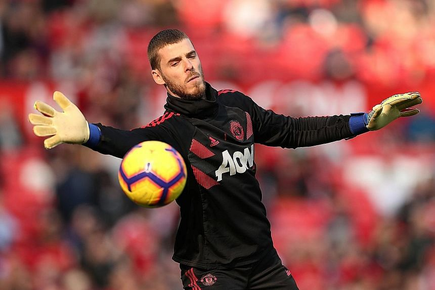 The British press reported that David de Gea wants parity with Manchester United's highest-paid player Alexis Sanchez. The Chilean forward is said to be earning £400,000 (S$716,000) a week excluding bonuses.