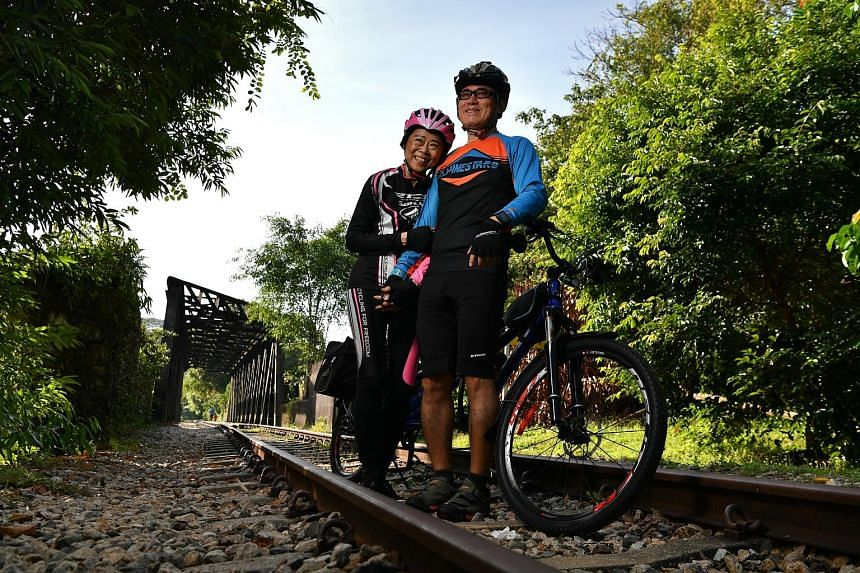 Terence Tan and his wife Tan Sze Hian will be riding a tandem bicycle during The Straits Times Ride at the OCBC Cycle on May 12.