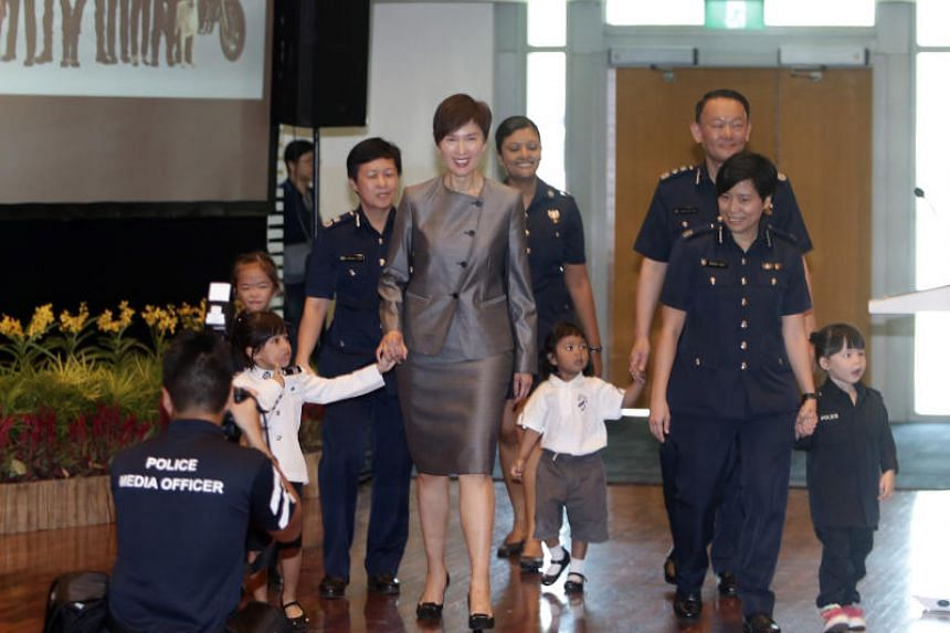 Manpower Minister Josephine Teo paid tribute to the achievements of female police officers at an event that celebrated 70 years of women in policing on March 2, 2019.