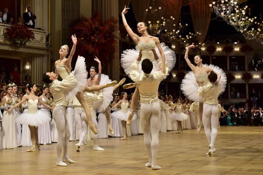 Dancers of the State Opera Ballet performing during the opening ceremony at the State Opera.