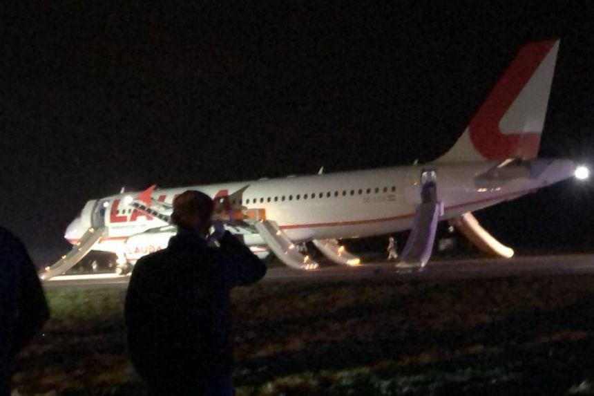 A photo said to be of the plane uploaded to social media.