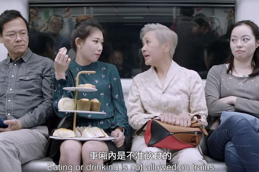 A still from the public transportation campaign video, which features award-winning actress Deanie Ip. PHOTO: YOUTUBE / TRANSPORT DEPARTMENT, HKSARG