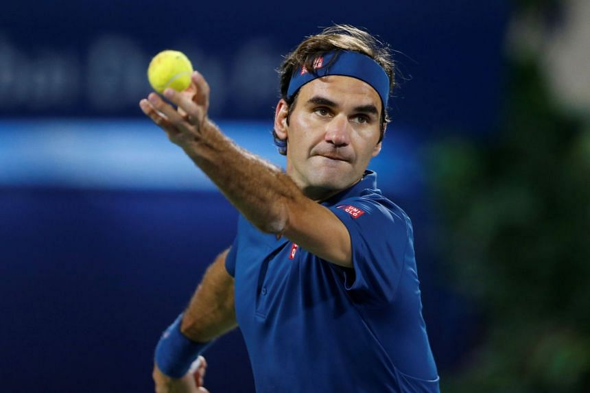 Federer in action during the final against Greece's Stefanos Tsitsipas.