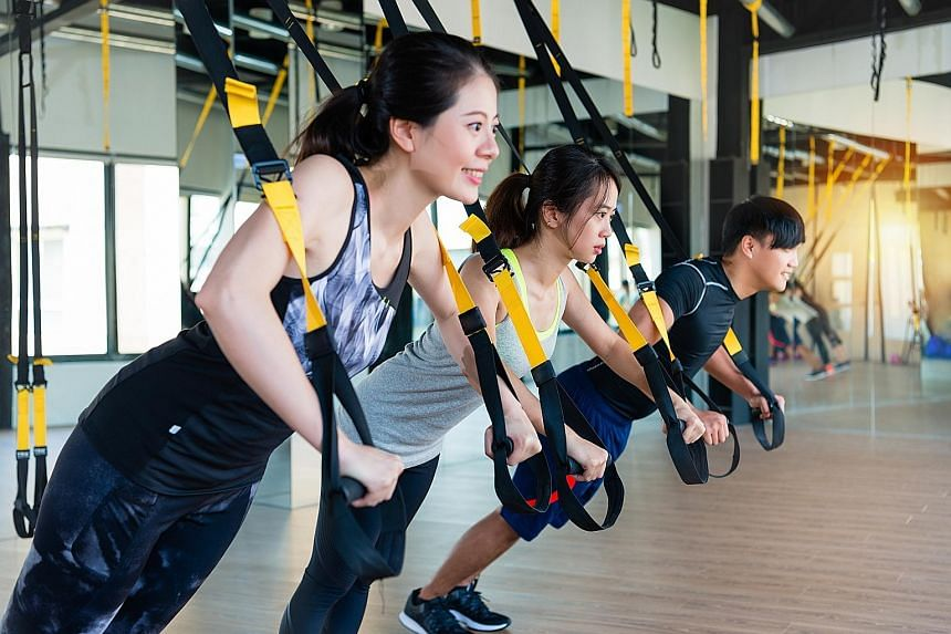 """Anyone, from the """"deconditioned"""" to triathletes, can push himself in the gym using TRX."""