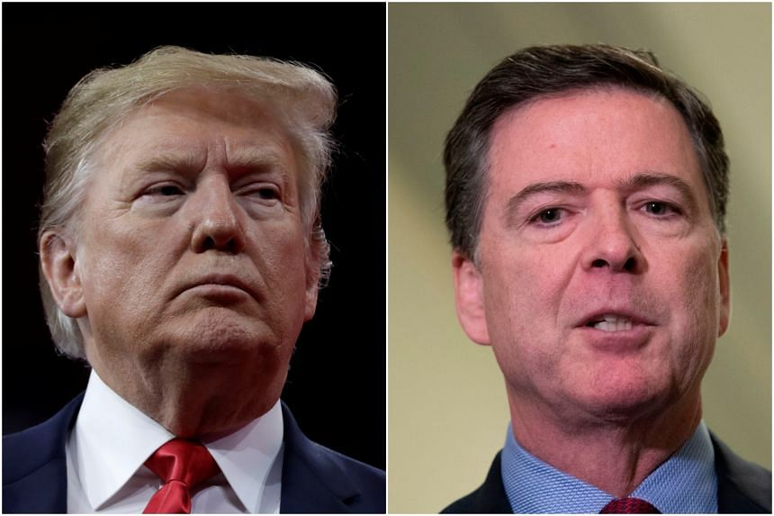 United States President Donald Trump (left) denied having fired FBI director James Comey over the investigation into links between his election campaign and Russia.