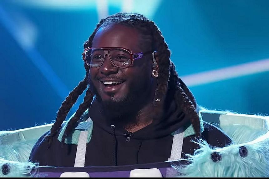 In the finale of The Masked Singer - the American version of the reality TV programme hosted by Nick Cannon - the one-eyed Monster turned out to be rapper T-Pain (above). Stars appearing in the show included singers Gladys Knight and Donny Osmond, and com
