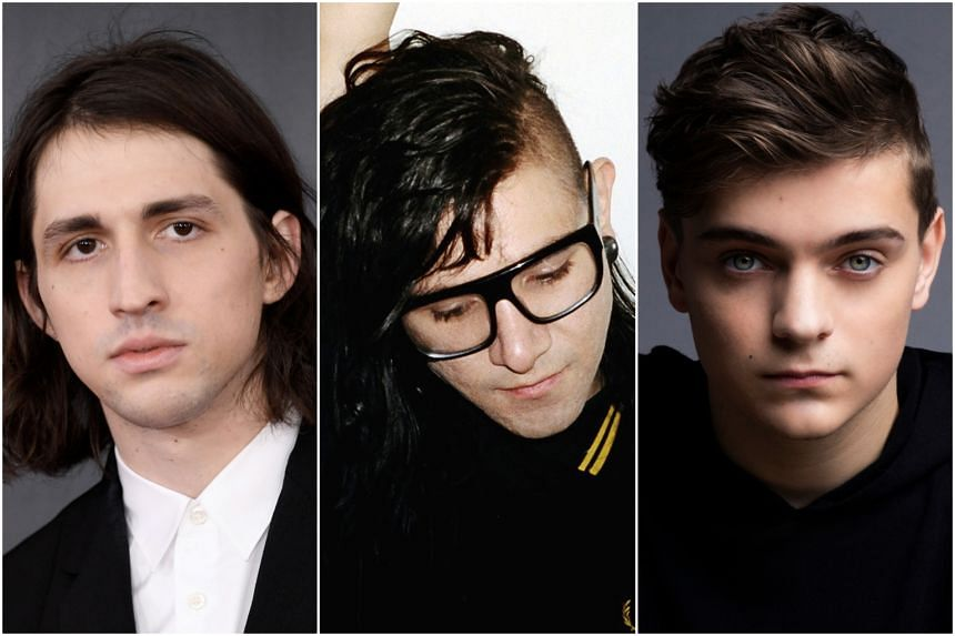 (From left) Porter Robinson, Skrillex and Martin Garrix will headline annual outdoor dance music festival Ultra Singapore this year.