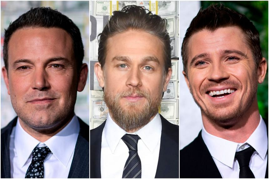 Triple Frontier stars Ben Affleck, Charlie Hunnam and Garrett Hedlund in Singapore March 8