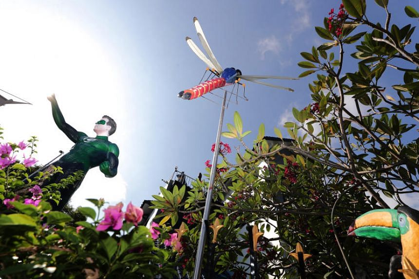 "The elaborate display, which has become an icon in the neighbourhood, was dubbed the ""Chempaka Mini Zoological Garden""."