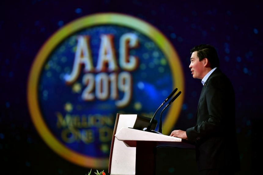 Changi Airport Group chief executive Lee Seow Hiang at Changi Airport's annual celebration on March 4, 2019.