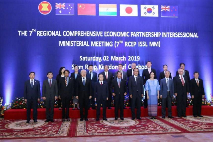 The Regional Comprehensive Economic Partnership (RCEP) ministerial meeting was held in Siem Reap, Cambodia, on March 2, 2019.