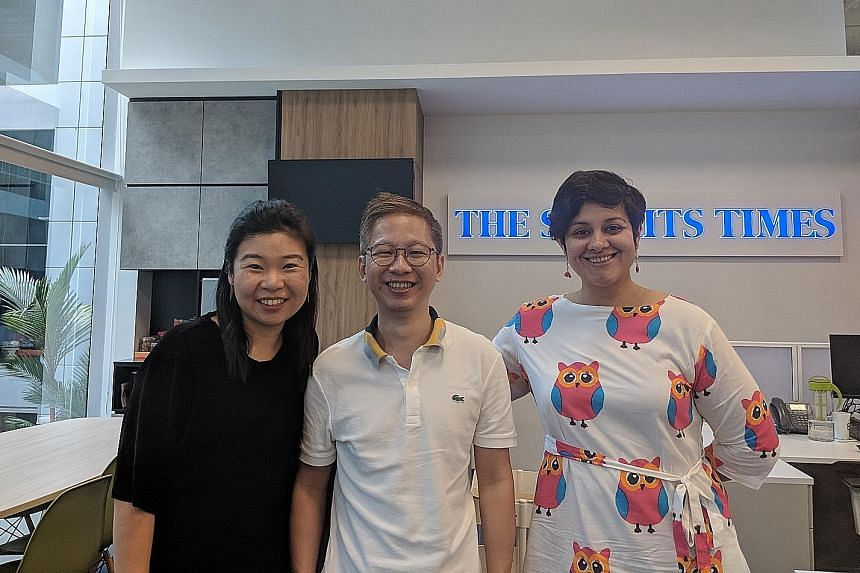 Hear Life reporters (from left) Melissa Sim, Boon Chan and Akshita Nanda on the ST podcast.