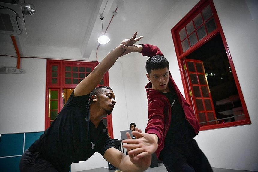 Sufri Juwahir and Shaun Lim are part of dance performance Kotor, which aims to show that violence and abuse affect men too.