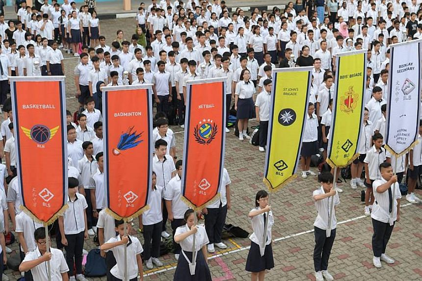 Boon Lay Secondary students attend assembly sessions and Character and Citizenship Education lessons together with their CCA mates, regardless of streams.